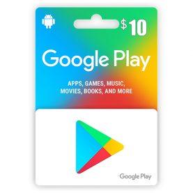 Google Play Gift Card 10$, گیفت کارت گوگل پلی 10 دلاری, گیفت گوگل پلی نسخه آمریکا, Google Play Gift Card, گیفت کارت گوگل پلی برای خرید بازی و نرم افزار, گیفت کارت Google Play Gift Card برای اندروید