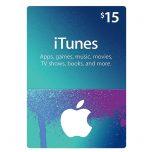 iTunes Gift Card 15$, گیفت اپل آیتونز 15 دلاری, گیفت کارت آیتونز نسخه آمریکا, iTunes 15$ Gift Card, گیفت کارت اپل استور برای خرید بازی و نرم افزار, گیفت کارت iTunes 15$ Gift Card