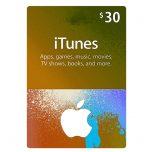 iTunes Gift Card 30$ - گیفت اپل آیتونز 30 دلاری