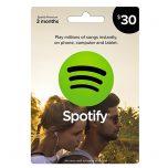 Spotify $30 Gift Card, گیفت کارت اسپاتیفای 30 دلاری, گیفت کارت اسپاتیفای نسخه آمریکا, Spotify, گیفت کارت فروشگاه اسپاتیفای, خرید اشتراک ماهانه Spotify