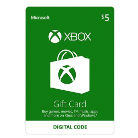 Xbox Gift Card 5$, گیفت کارت ایکس باکس 5 دلاری, گیفت کارت ایکس باکس نسخه آمریکا, Microsoft Store Gift Card, گیفت کارت فروشگاه ایکس باکس برای خرید بازی, گیفت کارت مایکروسافت ایکس باکس مخصوص ایکس باکس وان