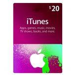 iTunes Gift Card 20$ - گیفت اپل آیتونز 20 دلاری