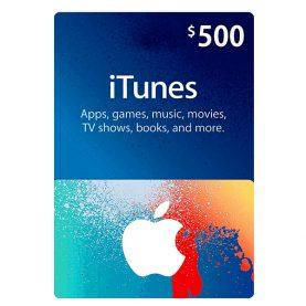 iTunes Gift Card 500$ - گیفت اپل آیتونز 500 دلاری
