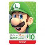 گیفت کارت 10 دلاری نینتندو eShop