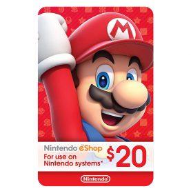 گیفت کارت 20 دلاری نینتندو eShop