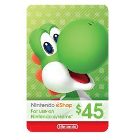 گیفت کارت 45 دلاری نینتندو eShop