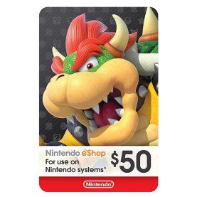 گیفت کارت 50 دلاری نینتندو eShop